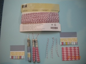 supplies for Stampin Up card