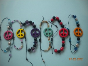finished peace bracelet