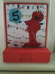 Birthday card made with Stampin Up and Cricut