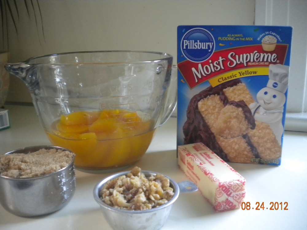 Peach Crunch Cake (dump) (1/6)