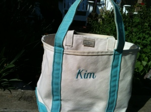 How to clean a Land's End bag finished product