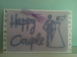 Cricut Wedding Card Stampin up