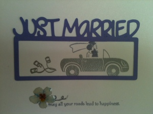 Cricut Wedding Card Stampin Up