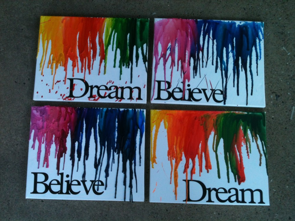 Craft Days - Melted Crayon Art (6/6)