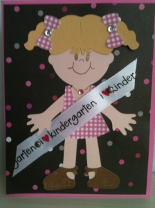 first day of school cricut stampin up card