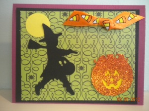 Happy Halloween Stampin Up  Cricut Card
