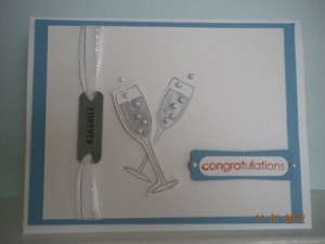 Happy anniversary stampin up card