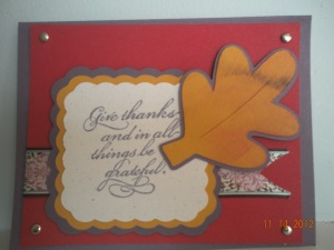 thanksgiving stampin up cricut card