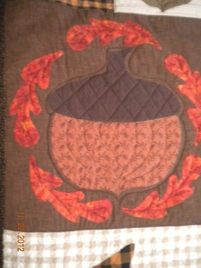 acorn and leaves block