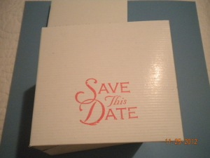 wedding save the date box