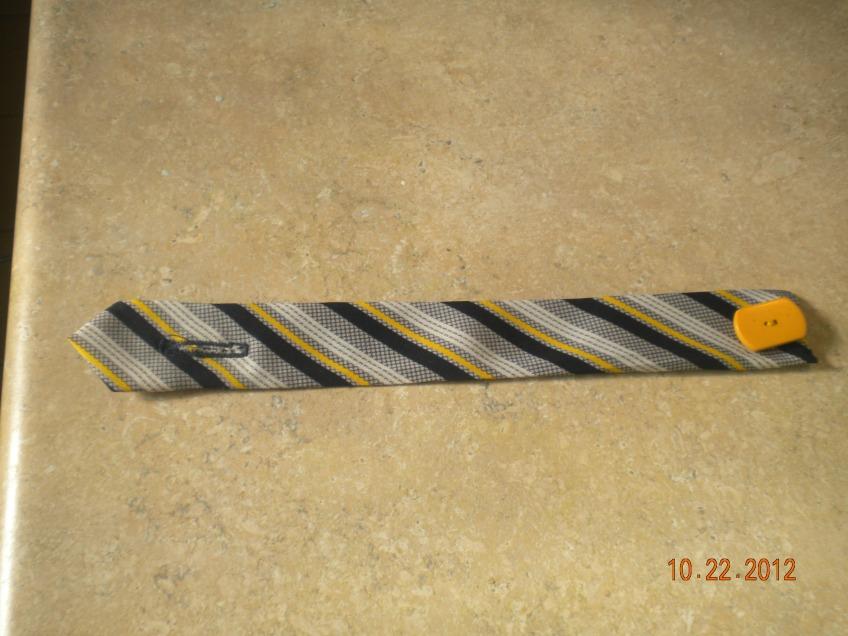 bracelet from man's tie