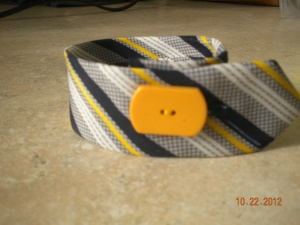 bracelet from man's tie