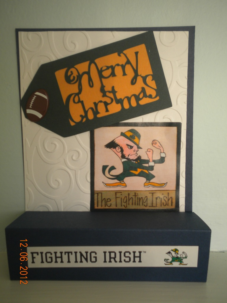 Notre Dame Christmas Card Stampiin Upp