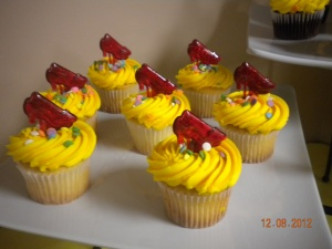 Ruby Slipper cupcakes