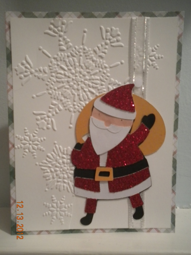 Winter Frolic Cricut Christmas Santa Card