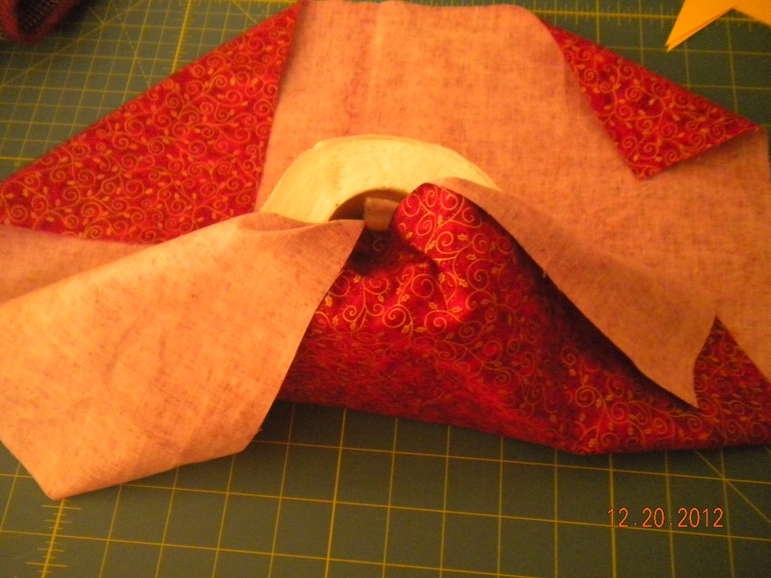 fold in the fabric