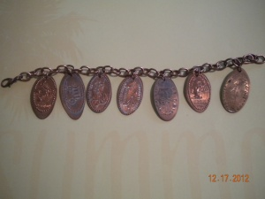 souvenir penny charm bracelet