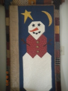 Button Up Snowman quilt