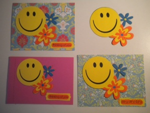cricut happy face cards