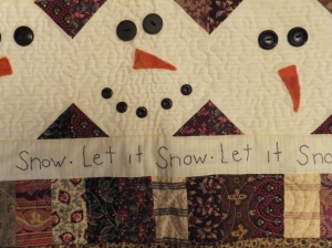 Detail on the Let it Snow quilt