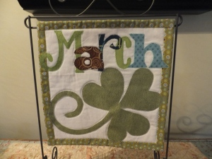 March St Partrick's Day  count on it quilt