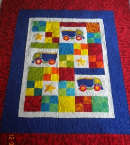 Boy's Construction Quilt