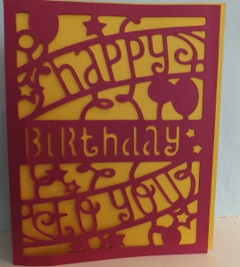 Cricut Simple Cards Happy Birthday