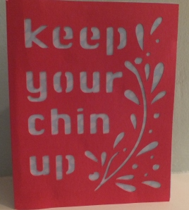 Cricut Simple Cards Chin Up