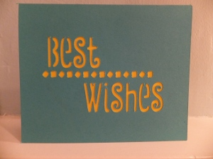 Cricut Simple Cards Best Wishes