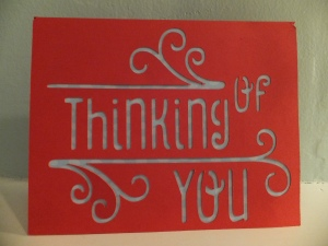 Cricut Simple Cards Thinking of You