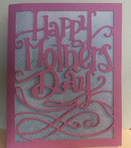Mother's Day Cricut Craft Room Card