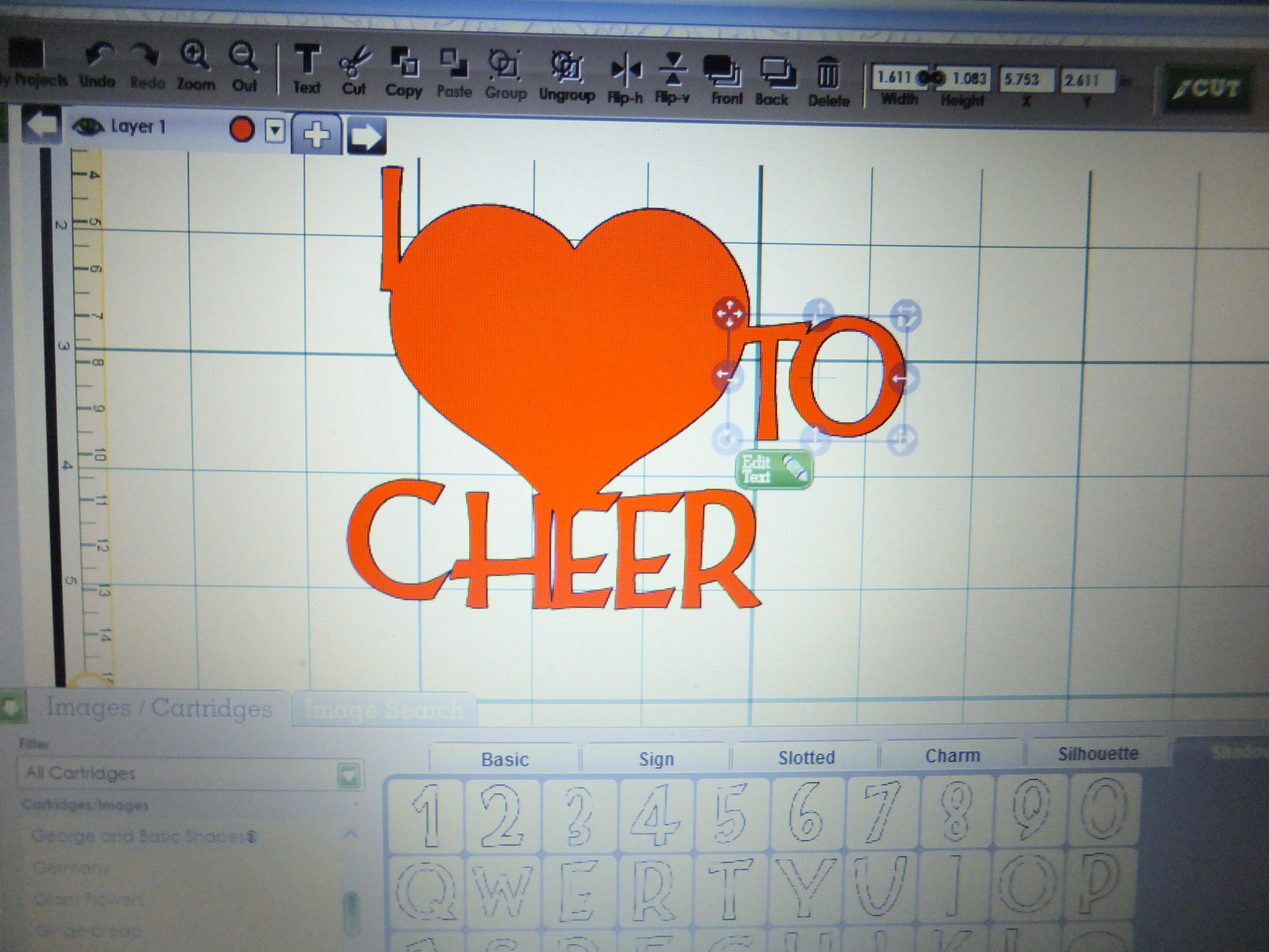 Ohio State Cheerleader Card made with the Cricut