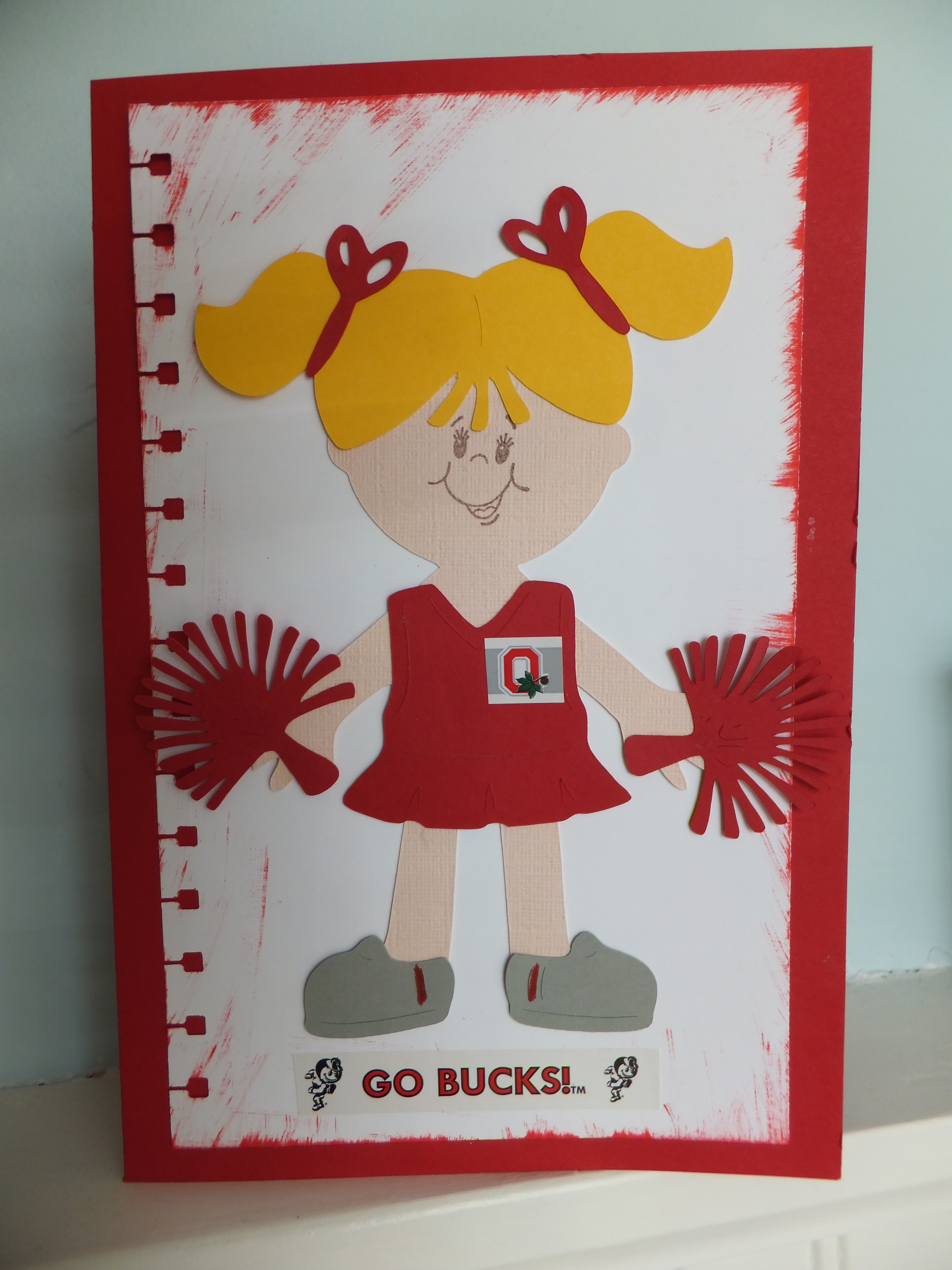 Ohio state cheerleader card made with the cricut madisonzanecreations for Where can i use my synchrony home design card