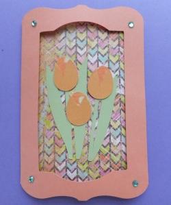 Cricut tulip card