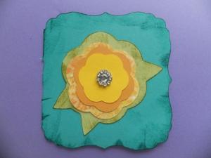 flower Cricut Card