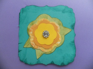 flower Cricut Card
