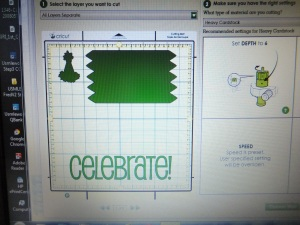Celebrate Cricut layout