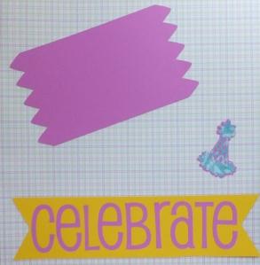 Celebrate Cricut Scrapbook Page
