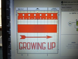 Growing Up Cricut layout