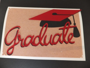 Cricut Graduation Card