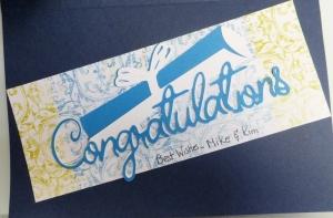 Cricut graduation card