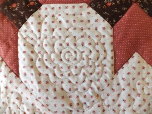 free hand quilting - flower