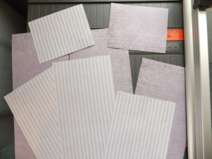 cut patterned paper