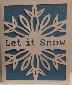 Cricut Let it Snow card
