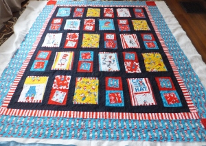 Dr. Seuss Cat in the Hat quilt