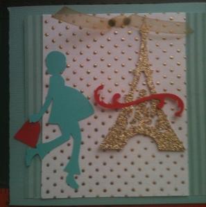 Cricut Paris baby shower invitation