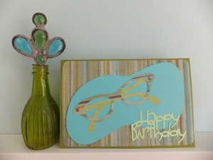Happy Birthday Card Cricut Nifty Fifties