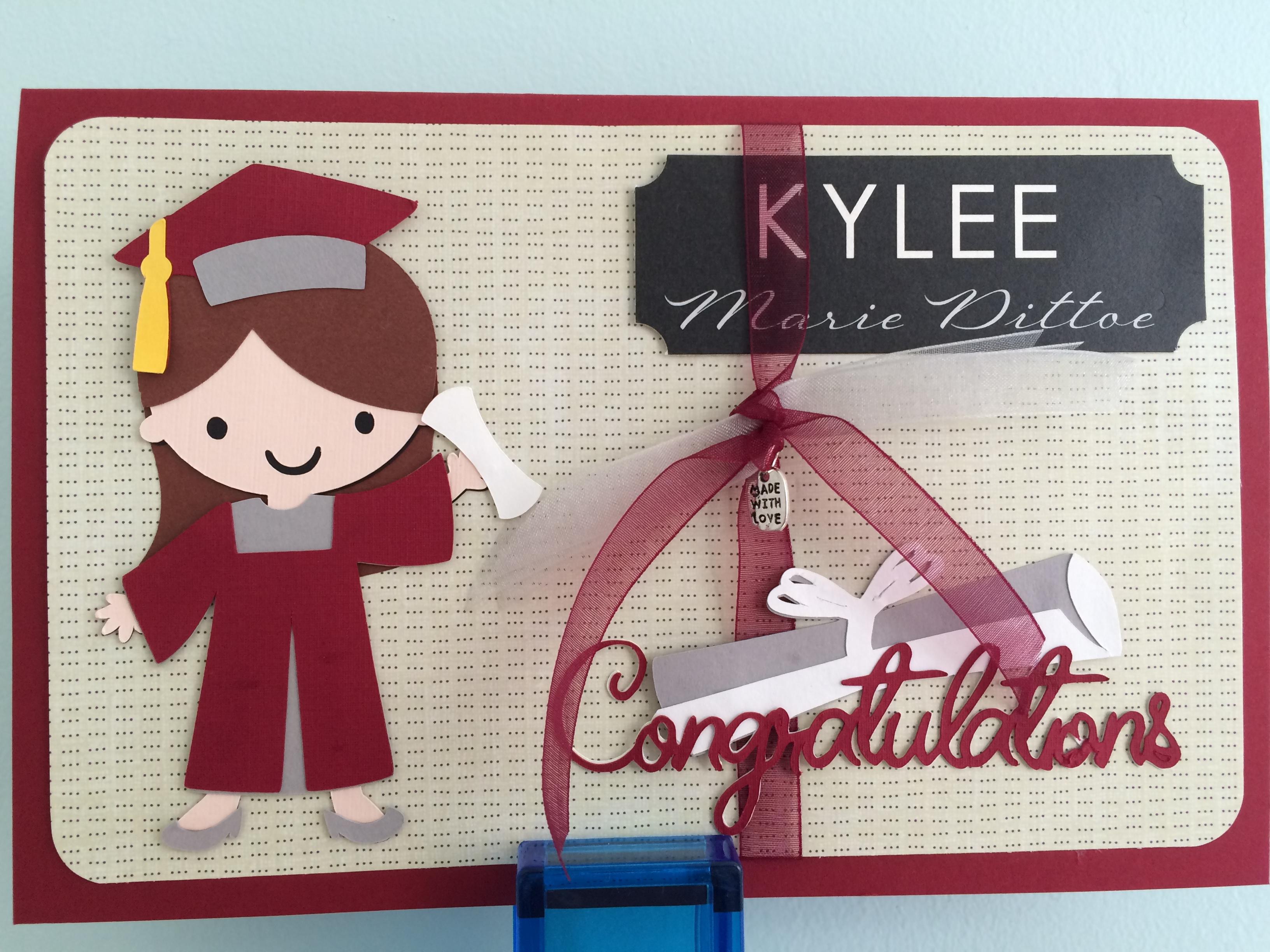 Create A Friend Cricut Graduation Card Madisonzanecreations